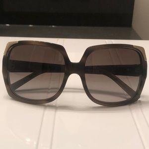 Grey/brown Burberry sunglasses